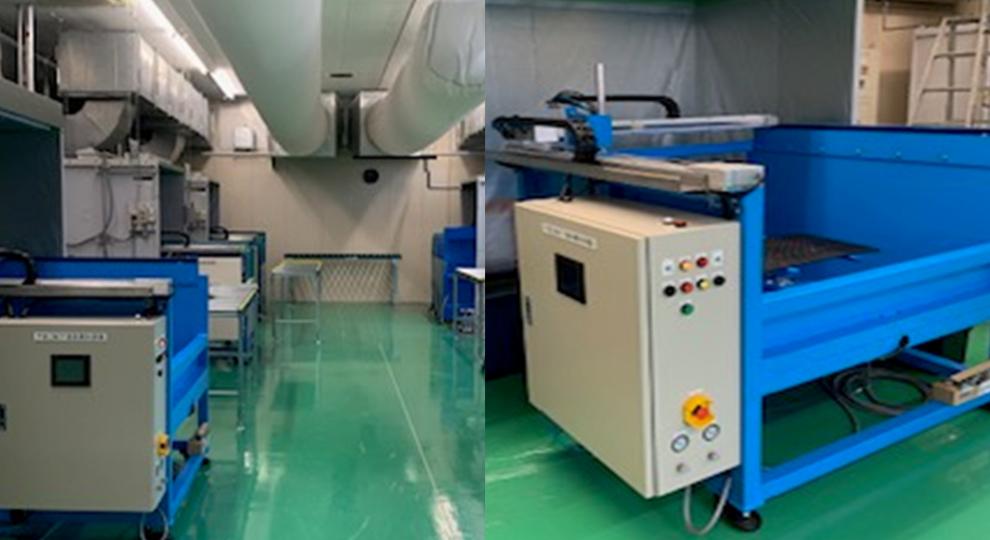 XY自動塗装機&ベンチュリーブース 吸排気装置ソックスダクト